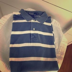 Polo short sleeve shirt( XXL) Blue and white